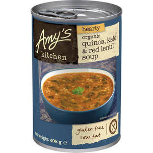 AMY'S KITCHEN ORGANIC QUINOA, KALE & RED LENTIL SOUP 408G