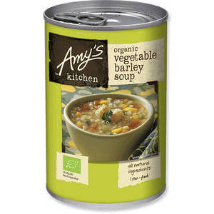 AMY'S KITCHEN ORGANIC VEGETABLE BARLEY SOUP 400G