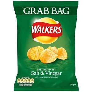 WALKERS SALT AND VINEGAR GRAB BAG 50G