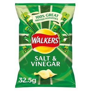 WALKER'S SALT & VINEGAR CRISPS 32.5G
