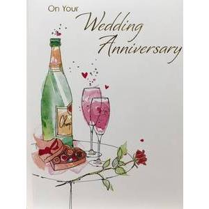 GREETING CARD - ON YOUR WEDDING ANNIVERSARY
