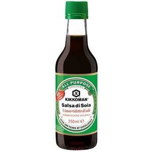 KIKKOMAN LESS SALT SOYA SAUCE 250ML