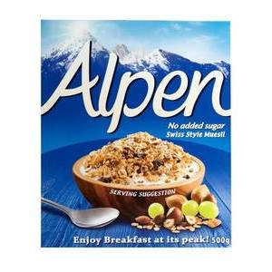 ALPEN MUESLI NO ADDED SUGAR 500G