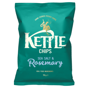 KETTLE CHIPS SEA SALT & ROSEMARY 150G (copia) best by 12/09/2020
