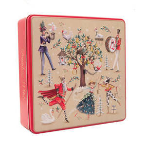 GRANDMA WILD'S EMBOSSED 12 DAYS OF CHRISTMAS TIN 400G