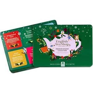 ENGLISH TEA SHOP GREEN CHRISTMAS TIN 36S