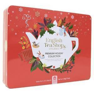 ENGLISH TEA SHOP RED CHRISTMAS TIN 72s