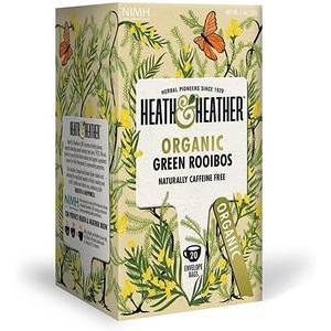 HEATH & HEATHER GREEN ROOIBOS TEA 20S