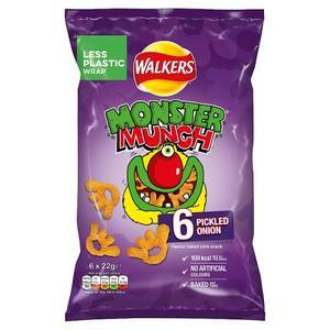 WALKERS MONSTER MUNCH 6X22G