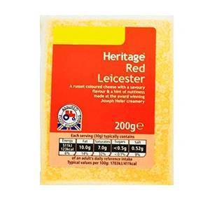 HERITAGE RED LEICESTER CHEESE 200G (copia) best by 15/01/21