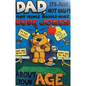 GREETING CARD - BDAY DAD RUDE JOKES
