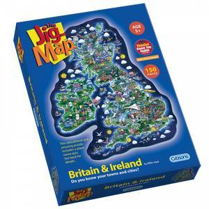 THE JIG MAP BRITAIN & IRELAND PUZZLE 150PCS