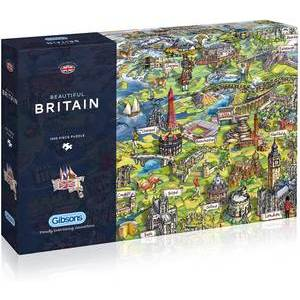 GIBSONS BEAUTIFUL BRITAIN PUZZLE 1000 PCS