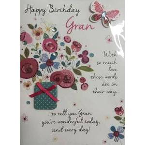 GREETING CARD - HAPPY BIRTHDAY GRAN