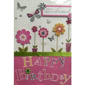 GREETING CARD - HAPPY BIRTHDAY FOR A SPECIAL FRIEND