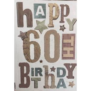 GREETING CARD - HAPPY 60TH BIRTHDAY