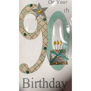 GREETING CARD - 90TH BIRTHDAY