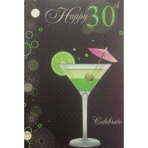 GREETING CARD - HAPPY 30TH BIRTHDAY