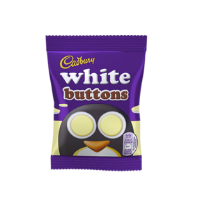 CADBURY WHITE CHOCOLATE BUTTONS 14,4g best by 26/07/2021
