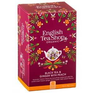 ENGLISH TEA SHOP BLACK TEA WITH GINGER AND PEACH 20S