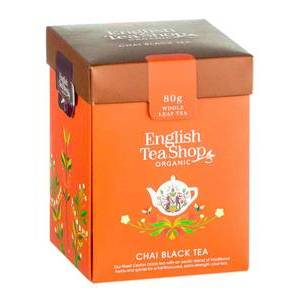 ENGLISH TEA SHOP BLACK CHAI TEA LOOSE LEAF 80G