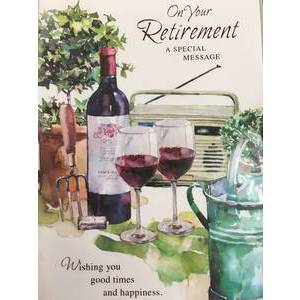 GREETING CARD - ON YOUR RETIREMENT