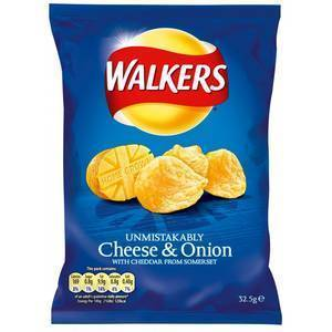 WALKERS CHEESE & ONION 175G best by 03/07/2021