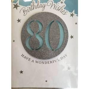 GREETING CARD - BIRTHDAY WISHES 80