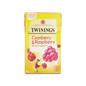 TWININGS INFUSION CRANBERRY & RASPBERRY 20S