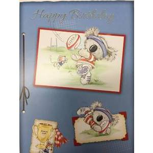 GREETING CARD - BIRTHDAY KOALA RUGBY