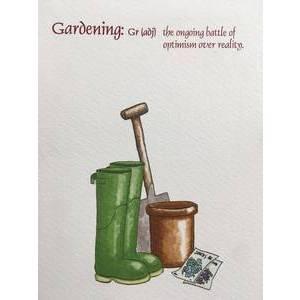 GREETING CARD - GARDENING