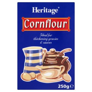 HERITAGE CORNFLOUR 250G best by 04/2018