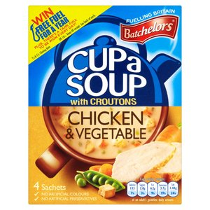 BATCHELORS CUP A SOUP CHICKEN & VEG 4 SACHETS 110G