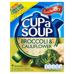 BATCHELORS CAS BROCCOLI & CAULIFLOWER 4 SACHETS 101G