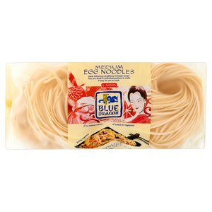 BLUE DRAGON MEDIUM EGG NOODLES, NESTS 300G