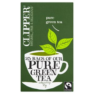 CLIPPER FAIRTRADE PURE GREEN 25 TEABAGS