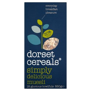 DORSET CEREALS SIMPLY DELICIOUS MUESLI 850G best by 21/02/2019