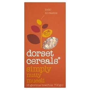 DORSET CEREALS SIMPLY NUTTY MUESLI 700G best by 02/03/2018