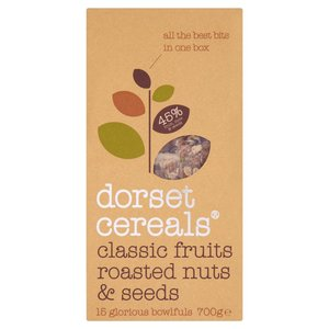 DORSET CEREALS FRUITS NUTS & SEEDS 700G best by 30/03/2019