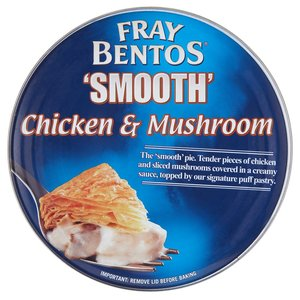 FRAY BENTOS 'SMOOTH' CHICKEN & MUSHROOM 475G