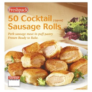 FRESHPACK COCKTAIL SAUSAGE ROLLS (50) best by 09/2019
