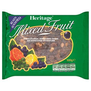 HERITAGE MIXED FRUIT 500G best by 11/2019