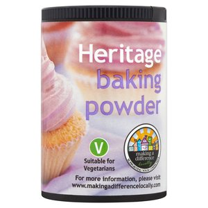 HERITAGE BAKING POWDER 100G best by 11/2018