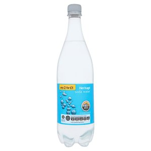 HERITAGE SODA WATER 1L best by 10/2018
