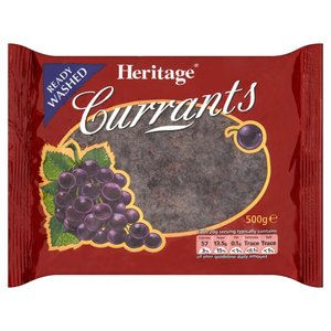 HERITAGE READY WASHED CURRANTS 500G