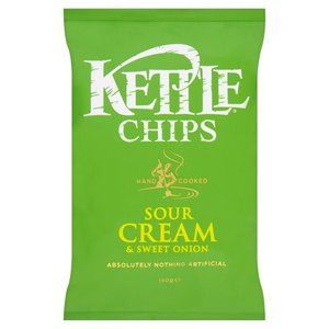 KETTLE CHIPS SOUR CREAM & ONION 150G