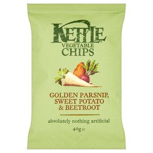 KETTLE VEGETABLE CHIPS 40G best by 01/02/2020