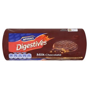 MCVITIE'S DIGESTIVES MILK CHOCOLATE 266G