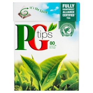 PG TIPS PYRAMID TEA BAGS (80) best by 12/2019