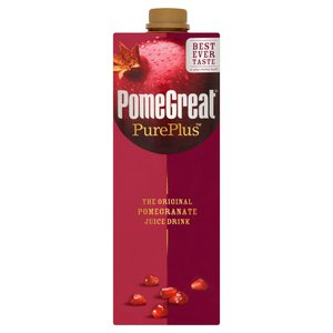 POMEGREAT THE ORIGINAL POMEGRANATE JUICE DRINK 1 LT.